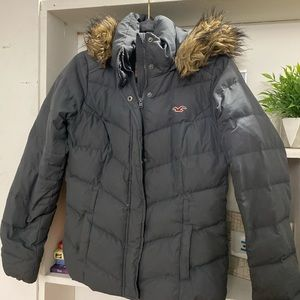Hollister Coat Charcoal Gray